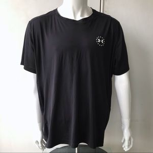 Under Armour Short-Sleeved Shirt. Black, White XXL
